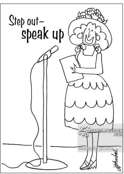 Step out-- speak up